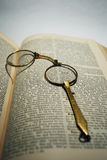 antique reading glasses Stock Image