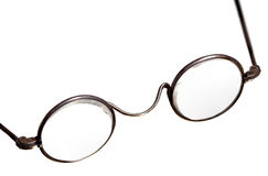 Antique reading glasses isolated Stock Image