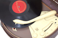 Antique record player Royalty Free Stock Image