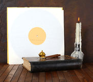 Antique record sleeve Royalty Free Stock Image