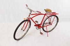 Antique red bike Stock Photos