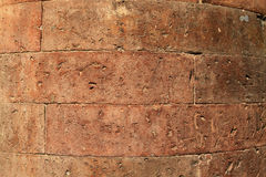 Antique red brick column Royalty Free Stock Photos