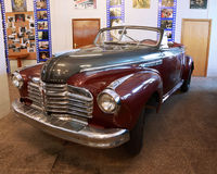 Antique red car in museum of Mosfilm Royalty Free Stock Image