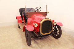 Antique red car in museum of Mosfilm Royalty Free Stock Photos