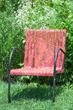 Antique Red Chair Stock Photo