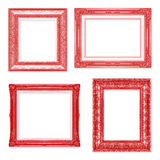 The antique red frame on the white background Royalty Free Stock Photo