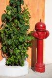 Antique red hydrant. In Cartagena de Indias Royalty Free Stock Photo