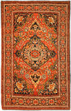 Antique Red Persian Iranian Carpet Stock Photo