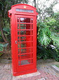 Antique red telephone booth Royalty Free Stock Photo
