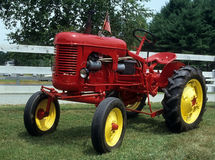 Antique Red Tractor Stock Images