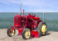 Antique red tractor Royalty Free Stock Photo