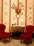 Antique Red Velvet Chairs Stock Photo