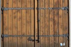 Antique red wooden door. Stock Images