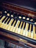 Antique reed organ Stock Photos