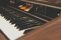 Antique reed organ Stock Photography