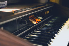 Antique reed organ Royalty Free Stock Photo