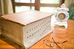 Antique reference book Royalty Free Stock Image