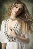 Antique relaxed girl Stock Photography