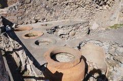 The antique restaurant in Pompeii. The antique restaurant in  ruin city,Pompeii Stock Images