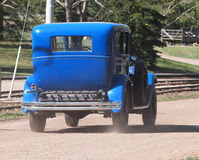 Antique Restored Blue Ford Stock Images