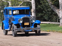 Antique Restored Blue Ford Royalty Free Stock Photos