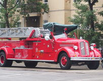 Antique Restored Fire Truck Stock Photo