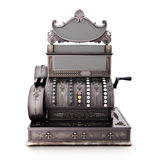 Antique retro cash register  on a white background. Royalty Free Stock Image