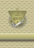 Antique retro gold-framed label Royalty Free Stock Images