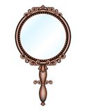 Antique retro hand-held mirror Stock Photo