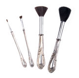 Antique Retro Makeup Brush Set Stock Photo
