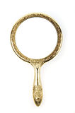 Antique Retro Mirror. Antique retro hand mirror isolated on white background Royalty Free Stock Photo