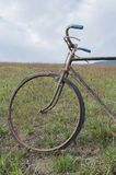 Antique or retro oxidized bicycle outside Royalty Free Stock Images
