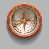 Antique retro style compass with windrose. Illustration. Rasterized Copy Royalty Free Stock Images