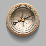 Antique retro style compass with windrose. Vector Illustration Stock Image