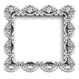 Antique floral white frame for text Stock Image