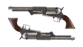 Antique revolvers for duel Stock Photos