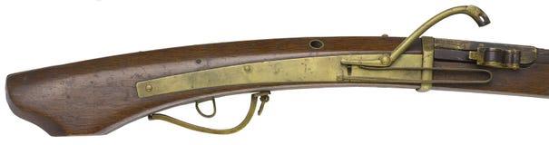 Antique Rifle guns on a white background Royalty Free Stock Photo