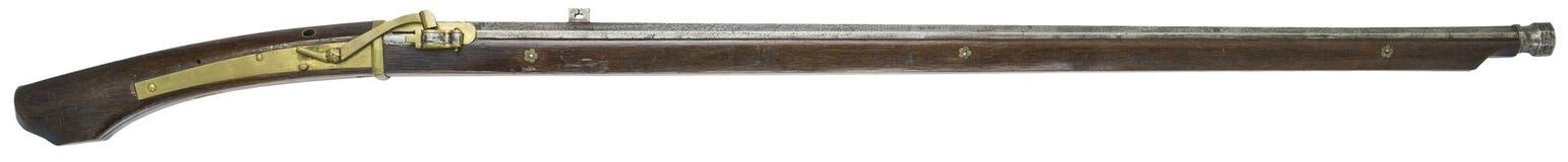 Antique Rifle guns on a white background Stock Photo