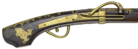 Antique Rifle guns on a white background Stock Photography