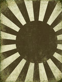 Antique Rising Sun Background. With Text Space stock illustration