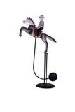 Antique Rocking Horse Balance Toy. Antique Vintage Rocking Horse Cowboy Perpetual Motion Toy Stock Image