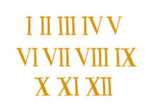 Antique Roman alphabet numbers set vector illustration. Old roman antique alphabet number and font roman alphabet Antique vector. Antique Roman alphabet numbers Royalty Free Stock Image