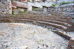 Antique roman amphitheater Odeon, Taormina, Sicily Stock Image