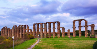 Antique  Roman Aqueduct Stock Photography