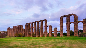 Antique  Roman Aqueduct of Merida Royalty Free Stock Image