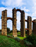 Antique  Roman Aqueduct of Merida. Spain Royalty Free Stock Photo