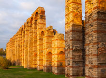 Antique  Roman Aqueduct of Merida Stock Photography