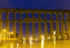 Antique roman aqueduct at Segovia Stock Photography
