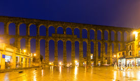 Antique roman aqueduct in Segovia. Spain Royalty Free Stock Photography