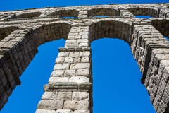 Antique roman aqueduct in Segovia, Spain. Aantique roman aqueduct in Segovia, Castilla y Leon, Spain Royalty Free Stock Images